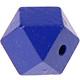Houtenkraal 18mm Hexagon Donkerblauw