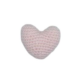 Gehaakt 3D Hartje Zalmroze mini