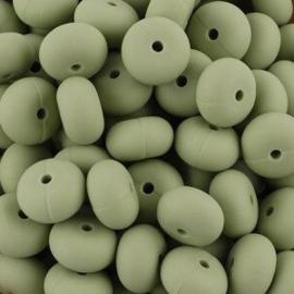 Siliconenkraal Abacus 14x8mm Green-Tea
