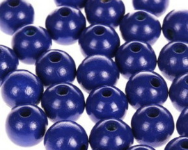 Houtenkraal ø12mm Donkerblauw 25st.