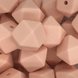 Siliconenkraal Hexagon 14mm Perzik