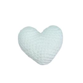 Gehaakt 3D Hartje Wit mini