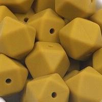 Siliconenkraal Hexagon 14mm Mosterd