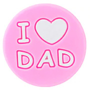 Siliconenkraal I ♥ DAD Roze