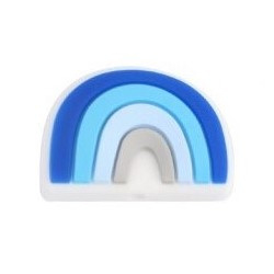 Siliconenkraal Regenboog Blauw