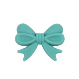 Siliconenkraal Strikje Turquoise