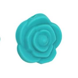 Siliconenkraal Roosje Turquoise