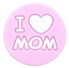 Siliconenkraal I ♥ MOM Roze