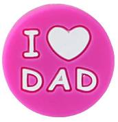 Siliconenkraal I ♥ DAD Donkerroze