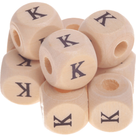 Letterkraal -K- gedrukt 12mm 8st.