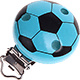 Speenclip Voetbal Turquoise
