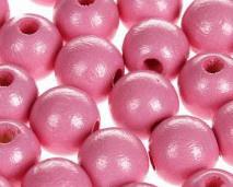 Houtenkraal ø15mm Roze 10st.