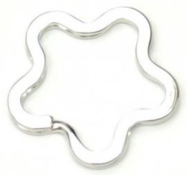 Sleutelhanger Ring Bloem 35mm