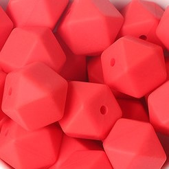 Siliconenkraal Hexagon 14mm Rood