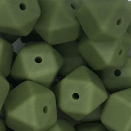 Siliconenkraal Hexagon 14mm Legergroen