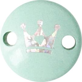 Midiclip Glitterkroontje Mint