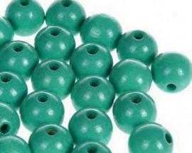 Houtenkraal ø12mm Donkerturquoise