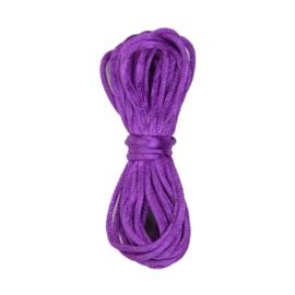 Satijnkoord ø2mm 5 mtr Violet (183)