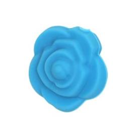 Siliconenkraal Roosje Aquablauw
