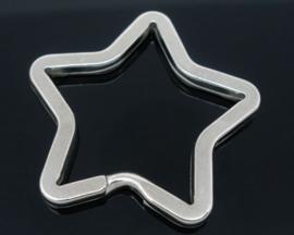 Sleutelhanger Ring Ster 35mm