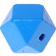 Houtenkraal 18mm Hexagon Blauw