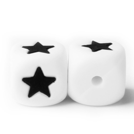 Siliconenkraal kubus Wit 12mm - ★ -