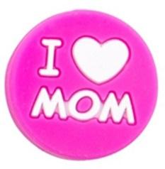 Siliconenkraal I ♥ MOM Donkerroze