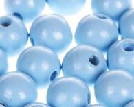 Houtenkraal ø15mm Babyblauw 10st.