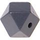 Houtenkraal 18mm Hexagon Diepgrijs