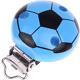 Speenclip Voetbal Lichtblauw