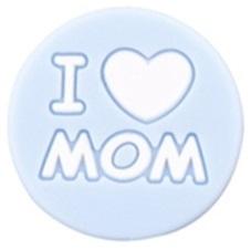 Siliconenkraal I ♥ MOM Babyblauw