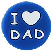 Siliconenkraal I ♥ DAD Donkerblauw