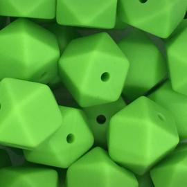 Siliconenkraal Hexagon 14mm Appeltjesgroen