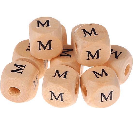 Letterkraal -M- gedrukt 12mm 8st.