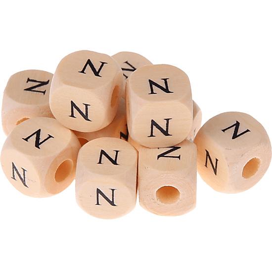 Letterkraal -N- gedrukt 12mm 8st.