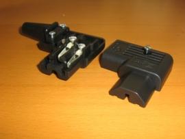 Verzilverde haakse IEC connectors