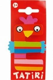 Tatiri houten letters / dierenalfabet - E (rood)