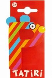 Tatiri houten letters / dierenalfabet - P (rood)