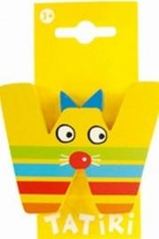Tatiri houten letters / dierenalfabet - W (geel)