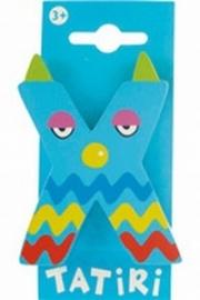 Tatiri houten letters / dierenalfabet - X (blauw)