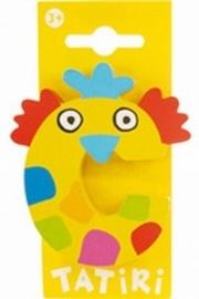 Tatiri houten letters / dierenalfabet - C (geel)