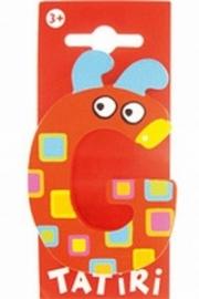 Tatiri houten letters / dierenalfabet - G (rood)