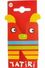 Tatiri houten letters / dierenalfabet - N (rood)