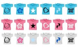 Geboorte waslijn symbolen
