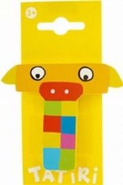 Tatiri houten letters / dierenalfabet - T (geel)