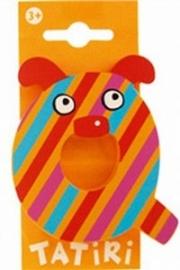 Tatiri houten letters / dierenalfabet - Q (oranje)