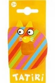 Tatiri houten letters / dierenalfabet - D (oranje)