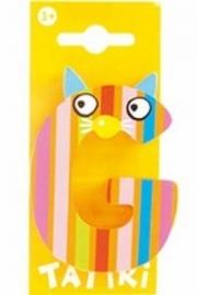 Tatiri houten letters / dierenalfabet - G (oranje)