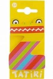 Tatiri houten letters / dierenalfabet - Z (geel)