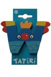 Tatiri houten letters / dierenalfabet - W (blauw)